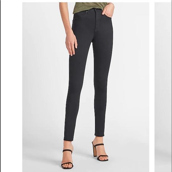 Express denim high-rise ankle leggings